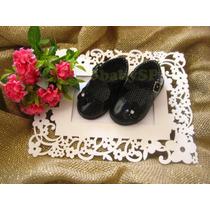Sapato Sapatinho Social Infantil Menina Bebê - Preto Mod.03