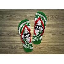 Chinelos Personalizados Heineken - Bebidas E Marcas