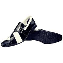 Sapato Social Masculino Em Couro Envernizado Estilo Italiano