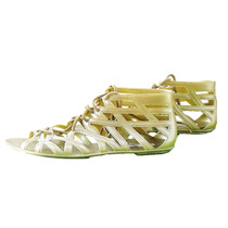 Sandália Gladiadora Rasteira Dourada