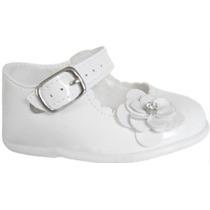 Sapato Sapatinho Social Feminino Para Bebê - Cor Branco