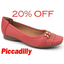 20%off Sapatilha Piccadilly Maxitherapy Vermelho 147042