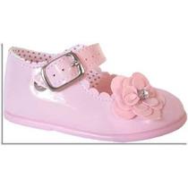 Sapato Sapatinho Social Feminino Para Bebê - Cor Rosa