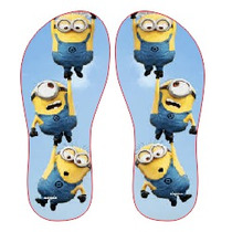 Chinelo Personalizados Minions Infantil