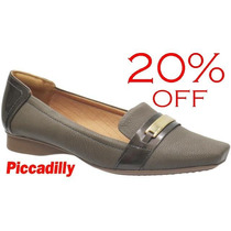 20%off Slipper Sapatilha Piccadilly Maxitherapy Cinza 147044