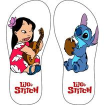Chinelos Personalizados Lilo E Stitch Desenhos Exlusivo!