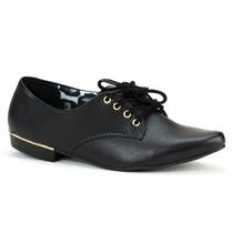 Sapato Feminino Firezzi Oxford Preto