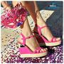 Super Promoção Sandália Via Marte Anabela 14-18904 Pink
