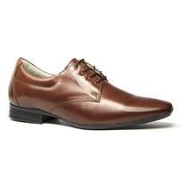 Sapato Social Couro Legítimo Palmilha Conforto Ref. F6958