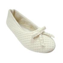 Pantufa Sapatilha Feminina Balerina Branca - Ricsen