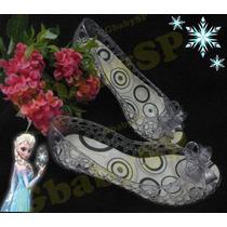 Sapato Sapatilha Sandália Princesas Cristal Elsa Frozen