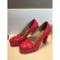 Sapato Maria Bonita Extra Pink Em Verniz