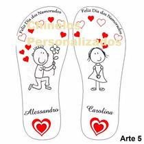 Chinelo Sandália Personalizados Namorados