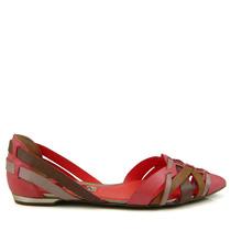 Sandália Flat Ramarim 1485202 - Goiaba - Olfer Calçados