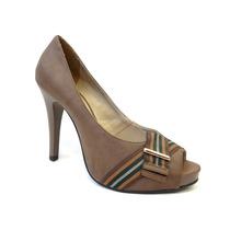 Sapato Peep Toe Lia Line - 700-3998
