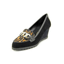 Anne Klein Keep It Up Mulheres Suede Shoes Plataformas Salto