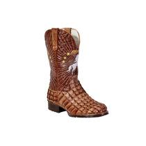 Bota Country Texana Couro Castanho/pinhão Du427- Alcalay