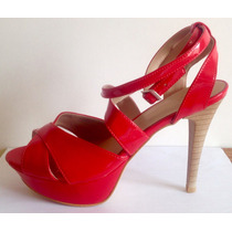Sandália Feminina Salto Vermelha Nova Vezzury 37 Promoção
