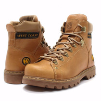 Bota West Coast Worker Classic Couro Legítimo Masculina