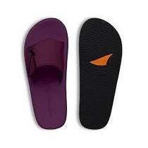 Chinelo Kenner Floater Original Couro Roxo Velcro
