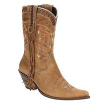 Bota Feminina Texana Cano Longo Com Franja - West Country 16