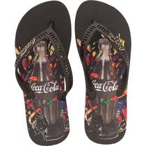 Chinelo Coca Cola Celebration - Preto Coca-cola