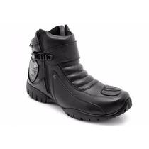 Bota Motociclista Cano Curto Couro Legítimo - Atron Shoes