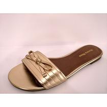 Sapatos Femininos Chinelo Morena Rosa Dourado