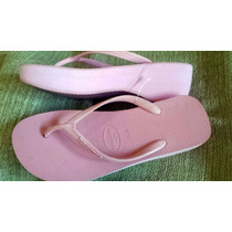 Chinelo Havaiana High Salto Rosa 39/40