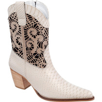 Bota Country Feminina Rodeo Western Texana Couro Capelli