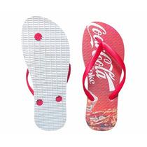 Chinelo Feminino Coca Cola Branco Super Oferta !!!