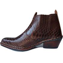 Sapatos Masculinos Botina Bot Texana Country Couro Oferta!