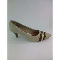 Sapato Feminino De Salto Baixo Bege Número 38