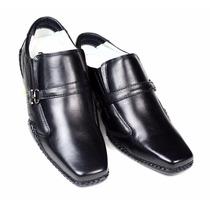 Sapato Masculino Em Couro Legítimo + Cinto Em Couro Grátis