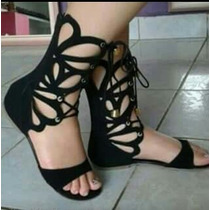 Sandalia Gladiadora Rasteira