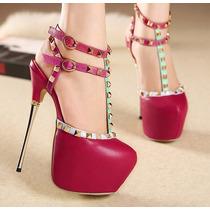 Yl081 Sapato Scarpin Salto Alto 16cm Importado Frete Grátis