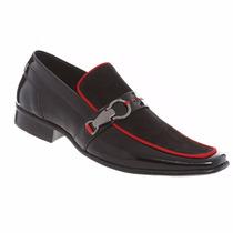 Sapato Social Masculino Gofer Couro Legítimo Verniz 0274