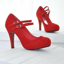 Sapato Social Feminino Salto Alto N.35 + Brinde