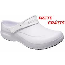 Sapato Crocs Soft Work- Branco, Preto, Azul, Com C.a