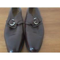 Sapato Social Masculino De Couro Com Fivela - Loding Shoes