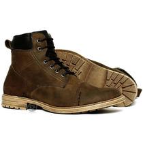 Bota Coturno Boots Marrom Worker Casual Solado Costurado