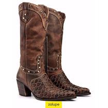 Bota Texana Escamada Country Rodeo Em Couro Ref. 3061