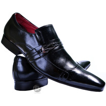 Sapato Social Masculino Solado 100% Couro Bico Fino Clássico