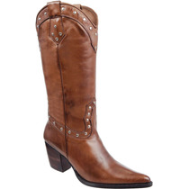 Bota Country Feminina Western Rodeo Texana Couro Capelli