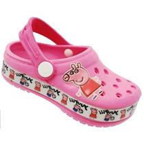 Grande Promoção De Sandália Infantil Crocs Peppa Pig !!!