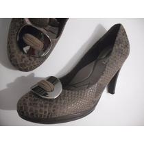 Sapato Piccadilly Croco Marrom Tam 39 Usado Ótimo Estado