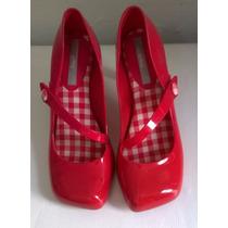 Sapato Melissa Vermelho Salto Alto