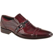 Sapato Social Masculino Em Couro Verniz Cor: Dark Red