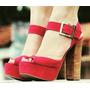 Sapato Feminino Sandalia Salto Alto Raphaella Booz