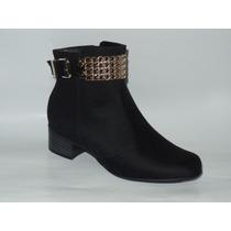 Bota Ankle Boot Vizzano Preta 304.5101
